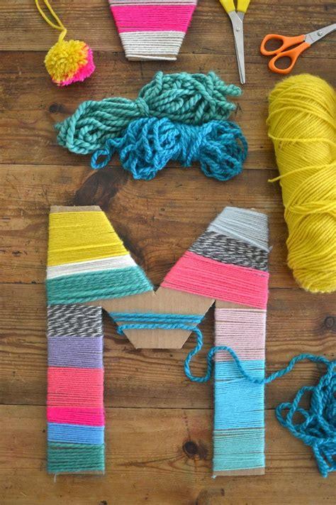 diy yarn projects yarn wrapped cardboard letters cardboard letters yarns and wraps