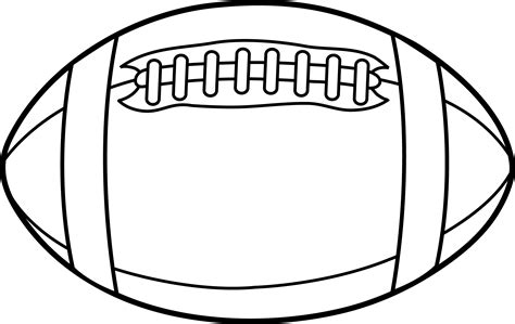 football or rugby ball line art free clip art