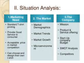 situation analysis template marketing situation analysis exle hosts