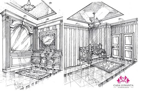 Perspective Drawing For Interior Design by Welcome To Casa Lunanta Interior Design Perspective Drawings