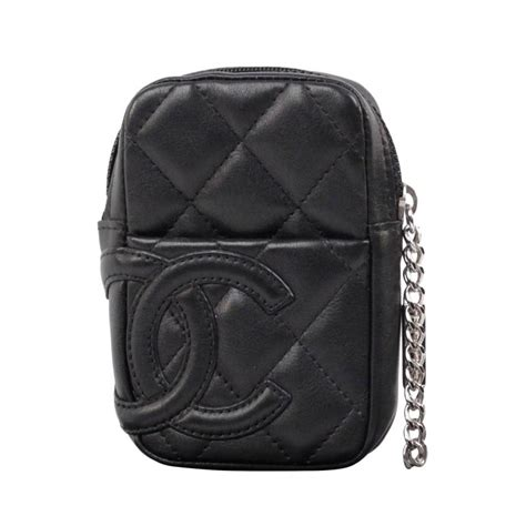 Fashion Bag Cig 10245 chanel cambon black quilted leather cigarette holder zip pouch at 1stdibs