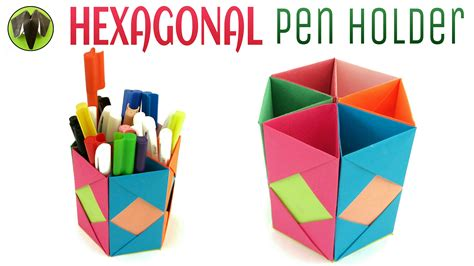 How To Make Pen Stand Using Paper - hexagonal pen pencil holder diy handmade tutorial