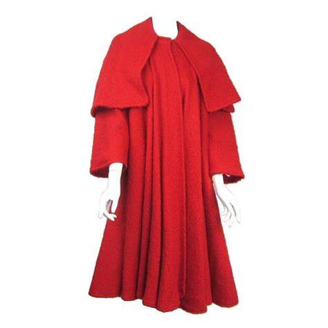 red swing coat vintage valentino red mohair swing coat at 1stdibs