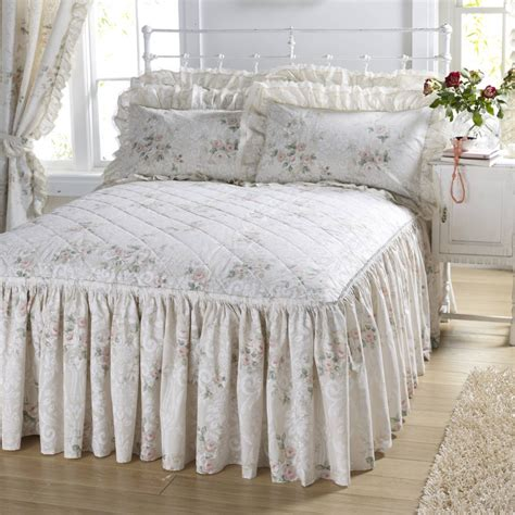 fitted comforter vantona country charlotte peach quilted fitted bedspread