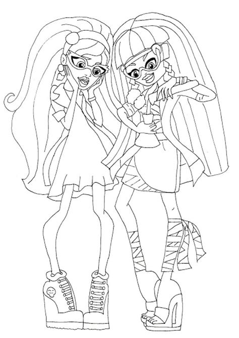 coloring pages of monster high 13 wishes mad science coloring pages colorings net