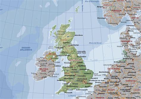 porti bretagna gran bretagna o regno unito carta geografica mappa della