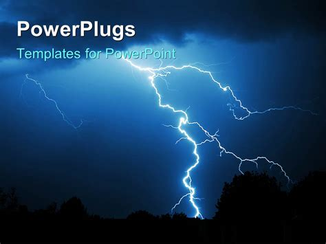 powerpoint templates lightning free powerpoint template powerful lightning strike in the