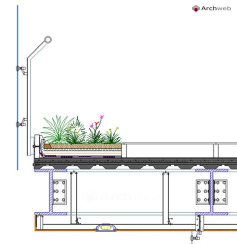 sezione tetto giardino giardini pensili dwg roof garden dwg