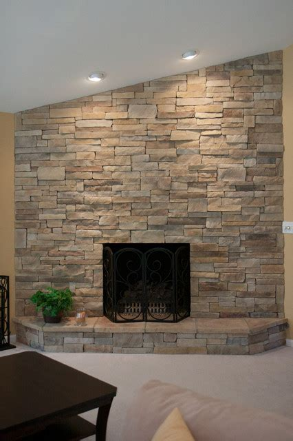 stacked stone fireplace pictures ledge stone dry stack stone fireplaces traditional