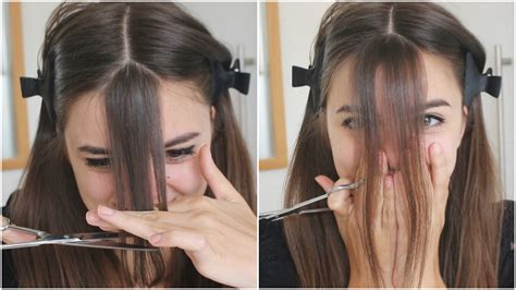 pictures how to make bangs cutting my bangs loepsie