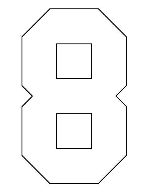 stencil template maker number 8 pattern use the printable outline for crafts