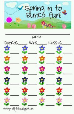 bunco punch card template 1000 images about bunco on bunco