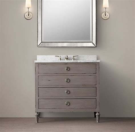 Restoration Hardware Maison Vanity by Maison Single Vanity Sink Antique Graphite H