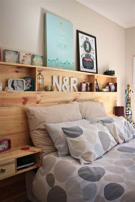 headboard with built in bedside tables 17 bookshelves that as headboards