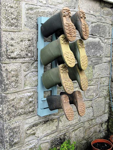 outdoor shoe storage ideas 24 practical diy storage solutions for your garden and