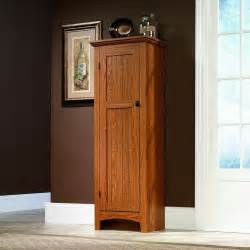 Wood Kitchen Storage Cabinets by Sauder Oak Kitchen Food Pantry Wood Cabinet Cupboard