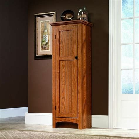 Oak Pantry Cupboard by Sauder Oak Kitchen Food Pantry Wood Cabinet Cupboard