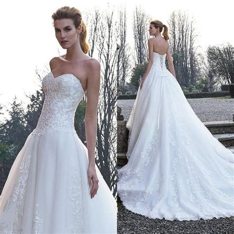 Cheap White Wedding Dresses by Cheap White Wedding Dresses With Applique Lace