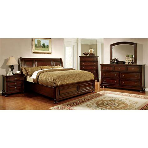 6 piece king size bedroom sets 247shopathome northville traditional elegant style cherry