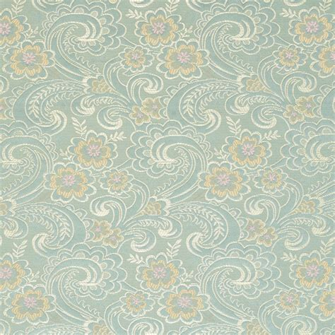 brocade upholstery fabric d122 gold pink and blue paisley floral brocade upholstery