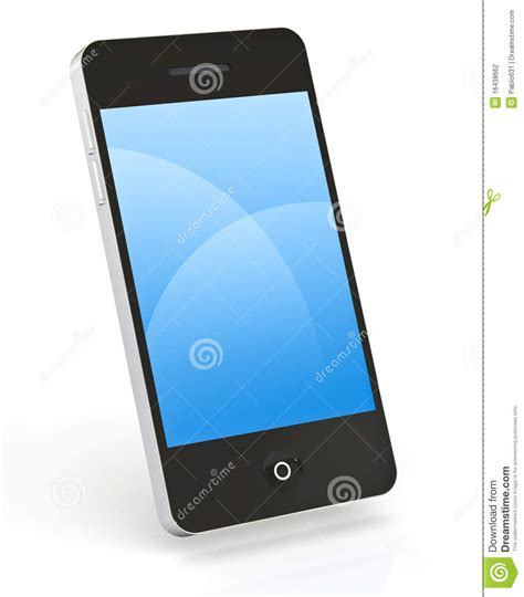 smart phone on white stock photography image 16438662