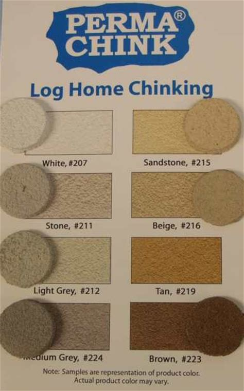 Interior Color Schemes For Homes Permachink Chinking In Permachink Chinking At Log Home Store