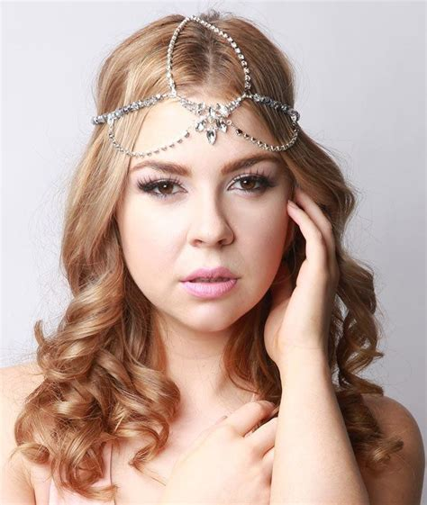 1920 S Bridal Hairstyles by Bohemian Bridal Headpiece Silver Gatsby 1920s Style Hair