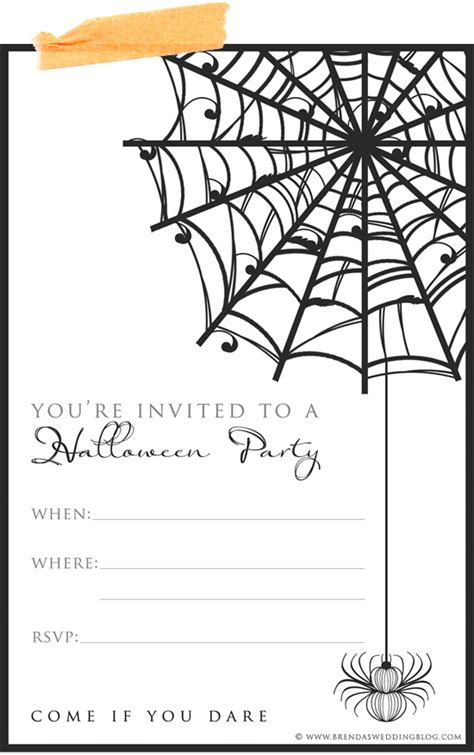 printable halloween party invitations print 9 fun stylish ideas for halloween weddings a printable