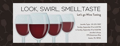 Theme Party Free Online Invitations Wine Tasting Invitation Template Free