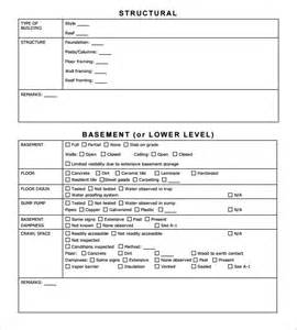 Inspection Report Template by Sle Home Inspection Report Template 11 Free