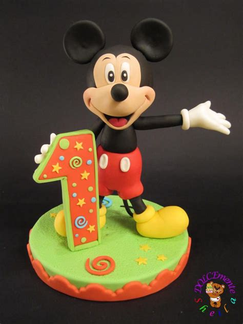 unique mickey mouse cake topper ideas  pinterest disney fondant tutorial mickey mouse