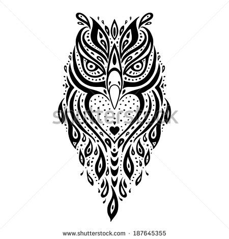 gambar tribal pattern owl line drawings of eagles stock photos images pictures