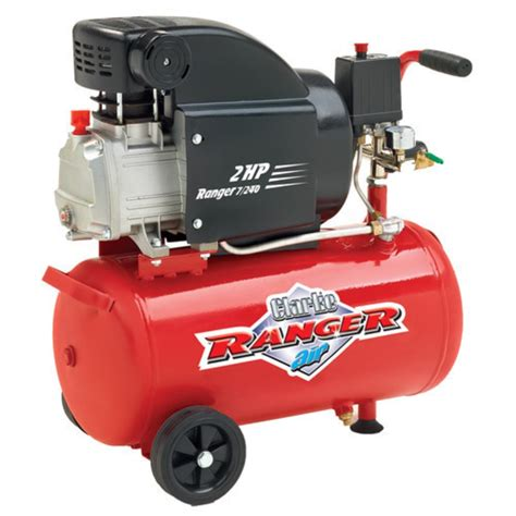 air compressor 2hp clarke ranger 24l 230v one st vincent inc