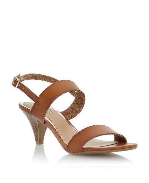 brown sandals heels linea fontina kitten heel sandals in brown lyst
