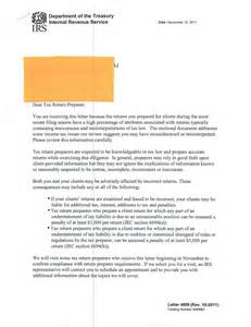 Irs Certification Letter irs letters to tax preparers on the rise