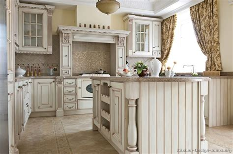 Kitchen Antique White Cabinets Pictures Of Kitchens Traditional White Antique Kitchens Kitchen 76