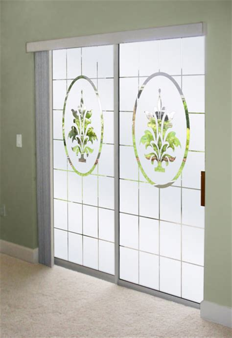 How To Decorate Sliding Glass Doors Decorate Sliding Glass Doors With Frosted Glass Designs