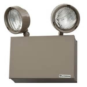 exit lighting fixtures lithonia lighting 16 watt steel incandescent emergency