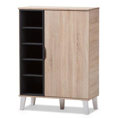 mid century shoe cabinet baxton studio adelina mid century modern 1 door oak and