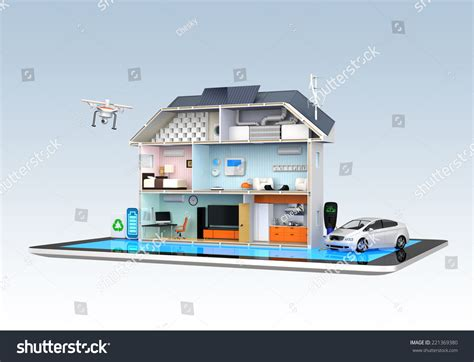home automation concept home appliances energy monitoring