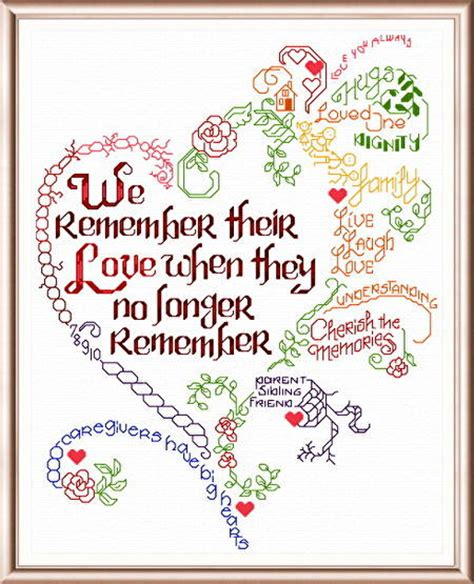 cross stitch pattern for words let s remember alzheimer s cross stitch pattern words