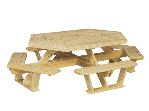 hexagon bench picnic tables cape cod fence company