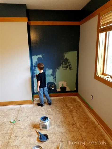 boys room accent wall new house sneak peek tour exploring domesticity
