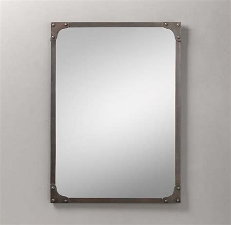 restoration hardware bathroom mirror industrial rivet dresser mirror mirrors restoration
