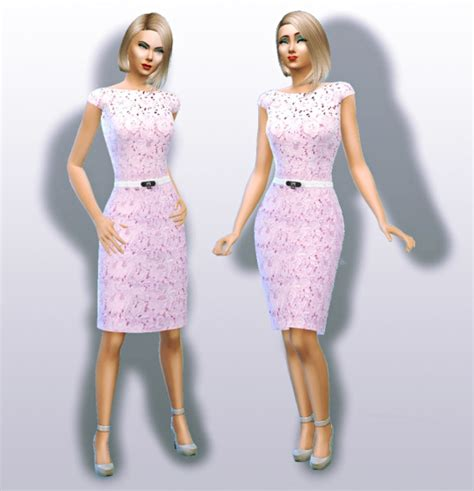Dress Chanell 4 lace formal dress by apathie sims 4 nexus