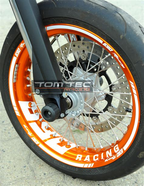 Ktm 690 Supermoto Wheels Sticker Your Text Ktm Smc 690 Lc4 660 625 Supermoto
