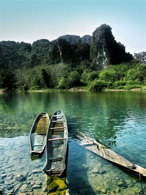 sunken river boats sunken boats on the nam song river photorator