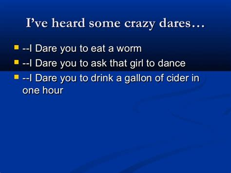 Best dares to ask a girl