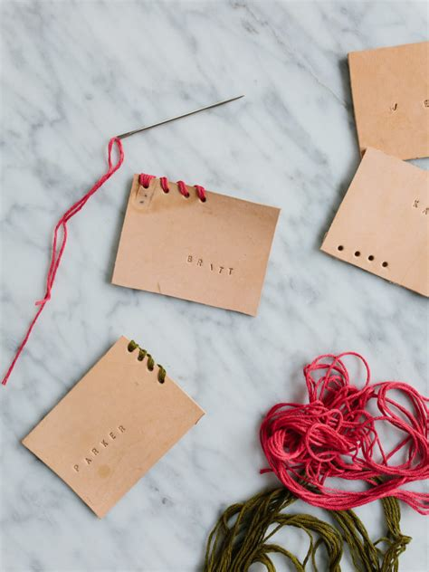 diy place cards diy leather place cards the effortless chic