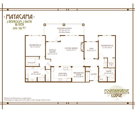 retirement home floor plans mayacama fountaingrove lodge